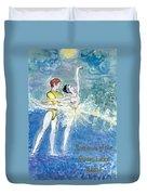 Swan Lake Ballet Poster Duvet Cover by Marie Loh