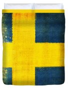 Swedish Flag Duvet Cover by Setsiri Silapasuwanchai
