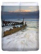 Swept Ashore Duvet Cover by Mike  Dawson
