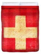 Switzerland Flag Duvet Cover by Setsiri Silapasuwanchai