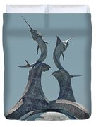 Swordfish Sculpture Duvet Cover by DigiArt Diaries by Vicky B Fuller