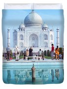 Taj Mahal  Duvet Cover by Nila Newsom