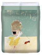 Talking Head Duvet Cover by Cliff Spohn