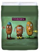 Tater Tots Duvet Cover by Leah Saulnier The Painting Maniac