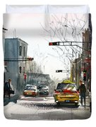 Taxi Duvet Cover by Ryan Radke