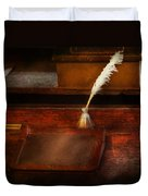 Teacher - The Writing Desk Duvet Cover by Mike Savad
