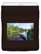 Temperance River Portage Duvet Cover by Larry Ricker