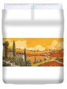 terra di Siena Duvet Cover by Guido Borelli