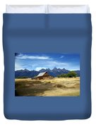 Teton Barn 3 Duvet Cover by Marty Koch