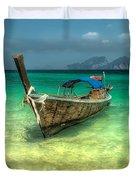 Thai Longboat Duvet Cover by Adrian Evans