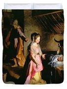 The Adoration Of The Child Duvet Cover by Federico Fiori Barocci or Baroccio