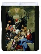 The Adoration Of The Kings Duvet Cover by Fray Juan Batista Maino