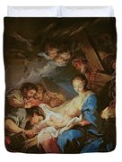 The Adoration Of The Shepherds Duvet Cover by Charle van Loo