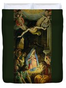 The Adoration Of The Shepherds Duvet Cover by Federico Zuccaro