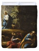 The Agony in the Garden Duvet Cover by Guiseppe Cesari