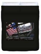 The American Flag Is Prominent Amongst Duvet Cover by Stocktrek Images