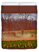 The Amish Way Duvet Cover by Scott Mahon
