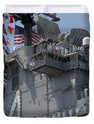 The Amphibious Assault Ship Uss Boxer Duvet Cover by Stocktrek Images