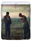 The Angelus Duvet Cover by Jean-Francois Millet