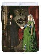 The Arnolfini Marriage Duvet Cover by Jan van Eyck