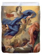 The Assumption Of The Virgin Duvet Cover by Guillaume Courtois