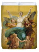 The Assumption Of The Virgin Duvet Cover by Pierre Paul Prudhon