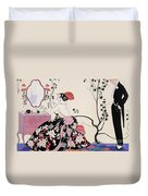 The Backless Dress Duvet Cover by Georges Barbier