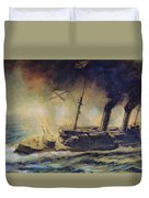 The Battle Of The Gulf Of Riga Duvet Cover by Mikhail Mikhailovich Semyonov