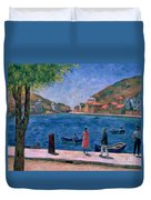The Bay Of Balaklava Duvet Cover by Aleksandr Davidovic Drevin