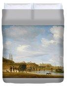 The Beach At Egmond An Zee Duvet Cover by Salomon van Ruysdael