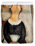 The Beautiful Grocer Duvet Cover by Amedeo Modigliani