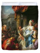 The Beheading Of Cyrus IIi Duvet Cover by Jean Simon Berthelemy