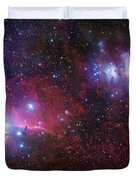 The Belt Stars Of Orion Duvet Cover by Robert Gendler