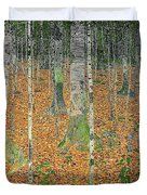 The Birch Wood Duvet Cover by Gustav Klimt