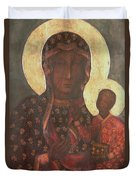 The Black Madonna Of Jasna Gora Duvet Cover by Russian School
