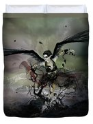 The Black Swan Duvet Cover by Mary Hood