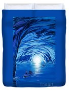 The Blue Grotto In Capri By Mcbride Angus  Duvet Cover by Angus McBride