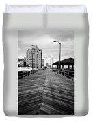 The Boardwalk Duvet Cover by Linda Sannuti
