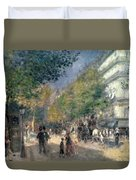 The Boulevards  Duvet Cover by Pierre Auguste Renoir