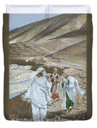 The Calling Of St. Andrew And St. John Duvet Cover by Tissot