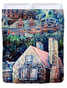 THE CHATEAU FRONTENAC Duvet Cover by CAROLE SPANDAU