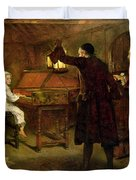 The Child Handel Discovered by his Parents Duvet Cover by Margaret Isabel Dicksee