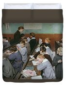 The Children's Class Duvet Cover by Henri Jules Jean Geoffroy
