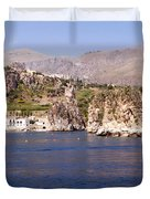 The coast of Zingaro reserve Duvet Cover by Focus  Fotos