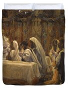 The Communion of the Apostles Duvet Cover by Tissot
