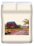 The Cottonwood In Fall Duvet Cover by Desiree Paquette