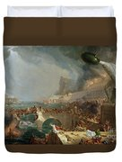 The Course Of Empire - Destruction Duvet Cover by Thomas Cole