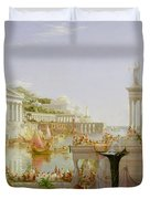 The Course Of Empire - The Consummation Of The Empire Duvet Cover by Thomas Cole