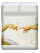 The Creation Of Adam Duvet Cover by Michelangelo Buonarroti