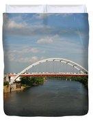 The Cumberland River in Nashville Duvet Cover by Susanne Van Hulst